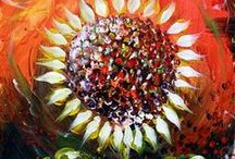 Sunflowers / Amazing original artwork by J. Vincent Scarpace! Perfect for business, home, gifts for loved ones (and the obligated)!