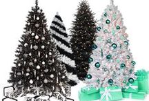 Black and White Collection / Class up your holiday season with our modern collection of black and white Christmas trees.