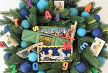 Back to School Wreath / Check out how Jennifer Perkins transformed Treetopia's Addison Spruce Wreath into an Adorable Back to School Wreath.