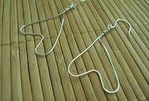 Fine Wire Earrings / Handmade jewelry by me from fine silver wire. Fine silver wire is 99.9% silver.