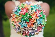 Bouquet de mariée / DIY Wedding Bouquet / Bouquet de mariée à faire soi-même. Après la robe de mariée, le bouquet est certainement le détail que tout le monde va admirer. Optons pour l'originalité avec ces bouquets faits-main !