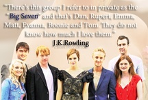 The Big Seven / This board is MAINLY about The Big Seven but it does have a few others. The Big Seven are: Daniel Radcliffe as Harry Potter, Emma Watson as Hermione Granger, Rupert Grint as Ronald Weasley, Matthew Lewis as Neville Longbottom, Evanna Lynch as Luna Lovegood, Bonnie Wright as Ginny Weasley and Tom Felton as Draco Malfoy. / by Justin Burlin