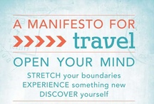 Infographics / Graphics that synthesize information about travel, giving, life