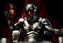 Avengers: Age of Ultron / After being infiltrated by HYDRA, S.H.I.E.L.D. is in ashes. Tony Stark has become the benefactor and de facto leader of its remnants with Stark Tower as HQ. But after the last film, he's tired, physically and mentally so he creates a team of Iron Man suits to patrol the skies and keep the peace. Ultron is the A.I. created to control the suits, possibly a new version of J.A.R.V.I.S. He becomes too powerful and takes control. He continuously upgrades his body and covers himself in Vibranium. / by Justin Burlin