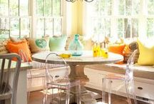 Home: Sun-drenched Kitchen / A vintage kitchen drenched in sunlight, creating a happy place to prepare, cook & bake foods for life and love.