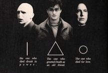 The Deathly Hallows / The Cloak of Invisibility, the Resurrection Stone & the Elder Wand. / by Justin Burlin