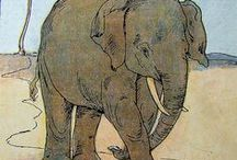 """Heffalumps / OED A child's word for """"elephant"""". Lovely elephant images."""