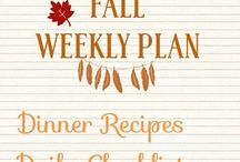 {Meal Plans} Weekly Plans / Meal planning Daily to do Dinner ideas Organization  Working mom weeknight dinners