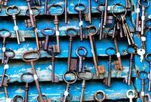 Keys / Vintage - interesting keys / by Becky DeVault