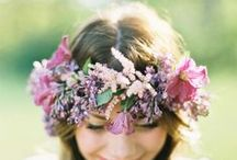 Floral head wreaths / Flower hair coronets for girls and women