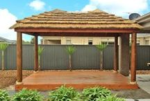 Aarons AFRICAN THATCHES / African Thatches - for the perfect entertainment area.  Aarons are the industry leaders in design, quality, innovation and finish when it comes to transforming your backyard!