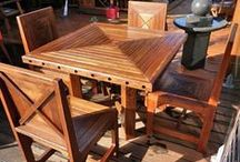 Aarons OUTDOOR FURNITURE / Aarons Outdoor Living have a large range of outdoor furniture made from reclaimed timber sustainable sourced.  Transform your entertainment area with our unique timber furniture.