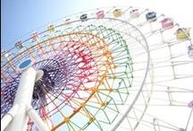 Norias - Ferris wheels - Carrousel