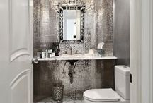 HOME:  My Chic B & B / Bathrooms & Bedroom (Arizona) - Swanky Sophisticated Comfortable ~ Old Hollywood Glamour (20's/30's) meets RockNRoll/70's coolness / by Sophia Zisis-Hazinski
