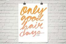 Samantha Hahn Shop / Select items from my shop featuring illustrations and hand-lettering: T-shirts, framed posters, prints, sweatshirts...