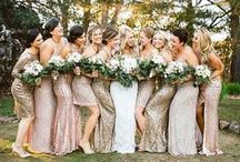 Bridesmaid inspo / Neutrals and sequins; champagne, nude, taupe, blush pink, gold and rose gold.   Keep an eye out for affordable dresses at: www.renttherunway.com - www.vowtobechic.com -www.lulus.com - www.asos.com - http://simplydresses.com/ / by Lisa Marie
