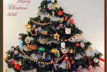 Wall Christmas Trees to Ponder / Christmas Trees to make on the wall for small-dwelling living