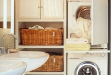 Home decor:Laundry room ideas / Creative spaces in homes such as laundry rooms,converted attics,play rooms and offices / by Jen Rizzo
