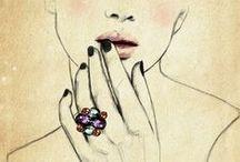 jewelry illustration / by d. Marlene jewelry