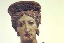 """ETRUSCANS / """"Geneticists have added an edge to a 2,500-year-old debate over the origin of the Etruscans, a people whose brilliant and mysterious civilization dominated northwestern Italy for centuries until the rise of the Roman republic in 510 B.C. Several new findings support a view held by the ancient Greek historian Herodotus — but unpopular among archaeologists — that the Etruscans originally migrated to Italy from the Near East.""""   NICHOLAS WADE, New York Times, April 3, 2007 / by Davia Bailey"""