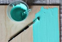 diy: paint + distressing / by Kelly Dent