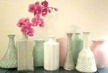 diy: vases + buntings + kitsch / by Kelly Dent