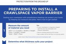 DIY - Crawlspace / Americover offers many different types of crawl space vapor barrier films.  Our crawlspace encapsulation vapor barriers are available in many mil thicknesses.