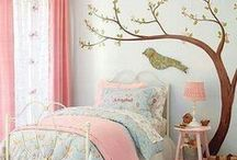 Girls bedroom / Bedroom ideas for colour and accessories.