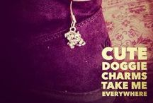 Dog Charms / From my many adventures with my dogs and stories from other pet lovers, ideas blossomed for this line of animated pewter charms.  The charms are whimsical and some are outrageous, most pet lovers will agree, our furry friends have such unique personalities and that is what I hope to capture. / by Cindy Sugai