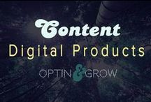 CONTENT: Digital Products & Info Products / Training courses, checklists, PDF's, videos, audios and more