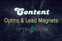 CONTENT: OPTINS, Lead Magnets & List Building / How to get more optins to your email list subscription boxes!