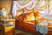 Dream Bedrooms. / A well-feathered nest to meet Mr Sandman in. / by Edna Lötter Botha
