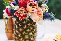 Orange and Purple Wedding - Summer Sunset / Rustic Country Feel