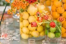 Centerpieces with Fruit / Perfect for spring and summer weddings!