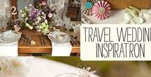 Travel Themed Weddings / A #wedding board filled with pretty #travel related things.