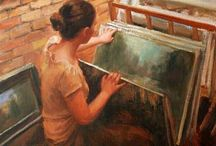 Art: Captured Moments. / Moments which could be captured on canvas. / by Edna Lötter Botha