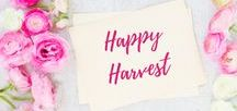 Happy Harvest / Recipes and Decor for Fall | Autumn |