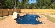 Parrot Bay Swimming Pools- Our Work Fayetteville and Raleigh NC / Swimming Pools Fiberglass Pools Parrot Bay Pools and Spas #parrotbaypools #fayetteville #raleigh