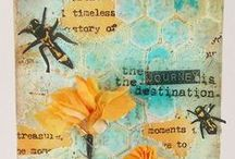 Stamping Homemade Cards / Handstamped cards / by Damsel of Distressed Cards