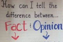 Fact and Opinion / Fact or Opinion, activities, lessons / by Sarah Womack