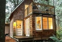"""casinha dos meus sonhos - cabin / bem sei eu que um dia ainda terei uma casinha lá no canto perto do rio aonde poderei ficar eu com a minha familia de três amando muito...""""refugio"""" / by Rubia Peiker Jandre"""