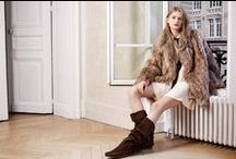 Minnetonka x Maje / This month Minnetonka teamed up with Parisian-based design house MAJE to create a capsule collection of two hand-crafted suede boots that blend classic style with a modern twist. Inspired by 1970s Urban Bohemian style the capsule collection features two free-spirited fringe boots: The TOTEM, an over the knee boot with lush fringe detail, and the BOHEME, an ankle bootie in supple suede. / by Minnetonka Moccasin