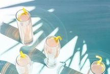 Cocktails / Delicious and beautiful cocktail, champagne and mixed drink recipes that taste way better when you're on vacation (paper umbrella not included).