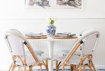 Dining Rooms / Inviting dining rooms where only the chicest of dinner parties take place.
