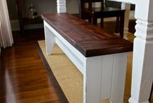 Build a BENCH -Woodworking PLANS - chairs, benches, extra seating etc. / Woodworking plans for extra seating - build a bench, chair, barstool, ottoman...