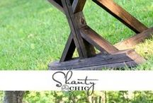 Build a TABLE. Woodworking PLANS. / How to build a table. DIY furniture plans from Shanty-2-chic, ana white, etc.  make your own furniture!