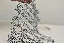 words and letters a like / by Emily Mills