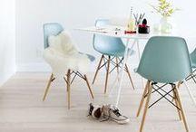 Couleur menthe à l'eau // Mint Color / C'est LA couleur tendance de la saison ! M&D l'a donc introduite au sein de sa collection de mobiliers. Quoi de plus frais qu'une chaise design d'inspiration Eames de couleur menthe ?