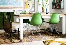 Vert & naturel // Green & Natural / Le vert, couleur tendance pour la déco