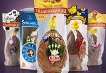 Chocolate Easter Eggs / Icelandic Easter eggs, with liquorice, caramel, spheres, without milk, dark one or just the normal plain cream chocolate
